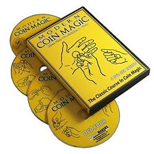 Magic Makers Modern Coin Magic - Over 170 Sleights and Tricks on a 4 DVD Set -