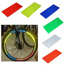 2PCS Fluorescent MTB Bike Bicycle Sticker Cycling Wheel Rim Reflective Decal
