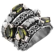 3.75CT MARQUISE PERIDOT SCROLL FILIGREE 925 STERLING SILVER ring