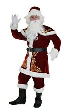 Santa Costume Adult Santa Claus Suit Christmas Clothes Luxury Suit