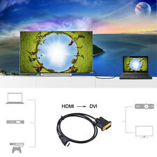 3FT-16FT HDMI to DVI-D 24+1 Pin Monitor Display Adapter Cable Male/Male HD HDTV