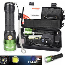 5000lm XML L2 LED Scuba Diving Underwater 500M Flashlight Torches Waterproof Set