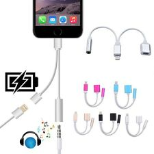 1 to 2 Dual Y Splitter Cable Adapter Earphone for iphone 7 to 3.5mm Aux Adapter