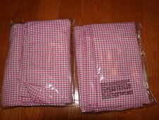 """POTTERY BARN KIDS SET OF 2 PINK GINGHAM PANELS 44X63"""" LINED GORGEOUS"""