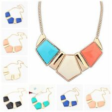 Fashion Vintage Women Irregular Geometric Pendant Necklaces Jewelry Accessories