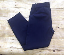 NWT J. CREW PETITE MINNIE PANT STRETCH TWILL #24645 NAVY CROPPED PANTS NEW