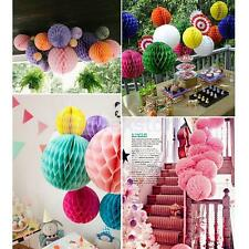 Honeycomb Ball Paper Lanterns Chic Party Wedding Christmas Decoration 9 Colors