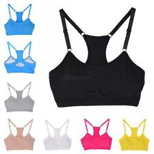Women Yoga Fitness Stretch Workout Tank Bra Seamless Padded Racerback Sports Bra