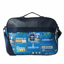 ADIDAS ORIGINALS AIRLINER GRAPHIC SHOEBOX MESSENGER BAG INDIGO SHOULDER BAG
