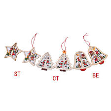 3D Wooden Christmas Decoration Xmas Tree Ornament Hanging Home Party Decor