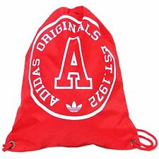 ADIDAS ORIGINALS SPORTS GYM BAG SPORTS BAG BAG BACKPACK RED WHITE TREFOIL