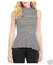 by&by Sleeveless Striped Peplum Top Size M, L, XL New Msrp $38.00