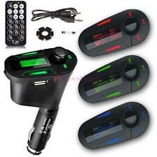 Car Kit MP3 Player Wireless FM Transmitter Modulator USB SD MMC LCD RemoteRGB SP