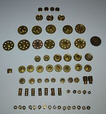 MECCANO 72 Vintage Brass Gears Worms Pulleys Collars Sprockets Wheels Buzz Saw