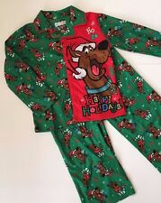 SCOOBY DOO  Santa Flannel PJs Pajamas  Boys Sizes 4/5   6/7  8  CHRISTMAS