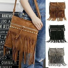 Fashion Womens Fringe Tassels Shoulder Bag Crossbody Bag Messenger Handbag Tote