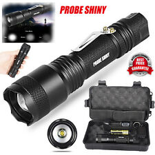X800 Shadowhawk 5000LM Zoomable XML T6 LED Tactical Flashlight+18650 Battery Kit