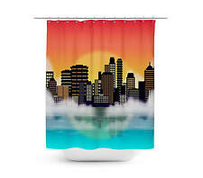 City Sunset Shower Curtain - Unique in 4 sizes for any Bathroom