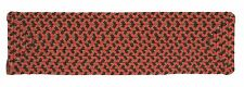 Tiburon Indoor Outdoor Rectangle Braided Stair Tread, Rusted Rose ~ Made in USA