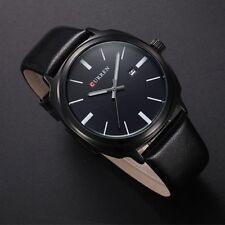 Curren Fashion Casual Date PU leather Analog Quartz Wrist Watch for Men