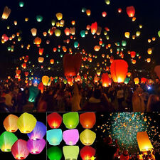 20/50Pcs Sky Lanterns Chinese Paper Sky Fire Candle Wish Wedding Fly Party Lamp