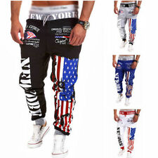 Mens Casual Baggy HIP HOP Dance Jogger Dance Sport Sweat Pants Harem Trousers Nq