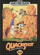 SEGA GENESIS TESTED! QuackShot Starring Donald Duck DISNEY Box CASE PROTECTOR