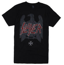 Slayer - Eagle Crest Silhouette Distressed Logo T-Shirt - BRAND NEW