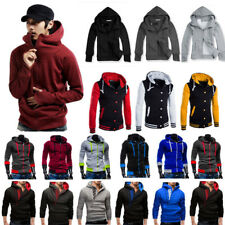 Mens Winter Warm Varisty Slim Hooded Baseball Jacket Coat Hoodie Sportwear Tops