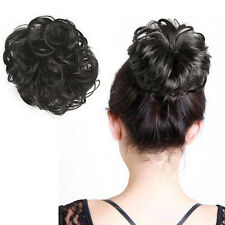 1PC Womens Scrunchie Pony Tail Wrap Bun Hair Piece Curly Bun Cosplay Hair Decor