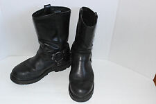 HARLEY DAVIDSON MENS SZ 9 #91230 BLACK LEATHER HARNESS MOTORCYCLE RIDING BOOTS