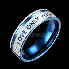 LOVE ONLY YOU Promise Stainless Steel Band Ring for Wedding Valentine Gift