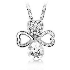 Charm 18K White Gold GP Austrian Crystal Lady Necklace Pendant K239
