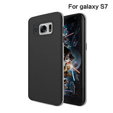 TPU Silicone PC Protector Back Cases Cover Skins For Samsung Galaxy S7 Gray