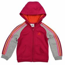 ADIDAS PERFORMANCE INFANT ESS FZ HOODIE HOODED JACKET GREY PINK