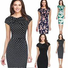 New Women Summer Casual Office Lady Party Evening Cocktail Midi Dress Size M-XL