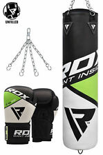 RDX Leather Punching Bag UnFilled Boxing Bag Gloves MMA Training Kicking Box CA