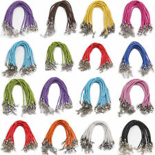"""Lot 20/100Pcs Handmade Braided Leather Cord Rope Bracelet Jewelry Finding 9.5"""""""
