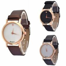 Fashion Casual Geneva Unisex Watch Faux Leather Quartz Analog Women Wrist Watch