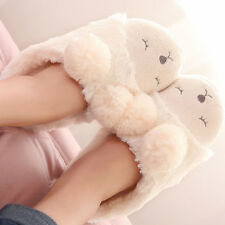 Cute Sheep Warm Slippers Soft Plush Antiskid Shoes Couple Indoor Home Slippers