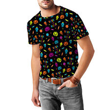 Neon Trick or Treat Mens Cotton Blend T-Shirt XS - 3XL Sublimation All-Over-Prin
