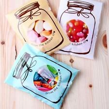 100Pcs Self-Adhesive Seal Bag Wedding Party Gift Cute Bottle Wrapping Bag