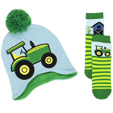 John Deere Toddler Boys Beanie Hat and Socks Set JDKIT140