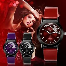 Synthetic Leather Band Fashion Classic Women Watch Round Dial Quartz Wristwatch