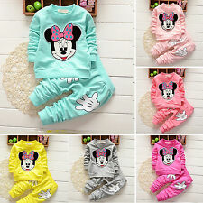 Toddler Kids Baby Girls Minnie Mouse Outfits Clothes 2PCS Set T-shirt Tops+Pants