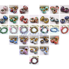 Wholesale Colorful Howlite Turquoise Gems Beads fit Charm European Bracelet DIY