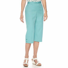 Alfred Dunner Sanibel Island Turquoise Capris Size 18 Msrp $48.00 New