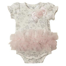 Koala Baby Boutique Girls Ivory Allover Floral Printed Tutu Bodysuit with