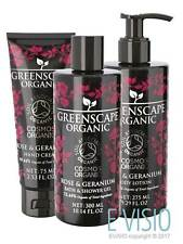 Greenscape Organic Rose Geranium: Bath/Shower Gel, Hand/Body Lotion & Hand Cream