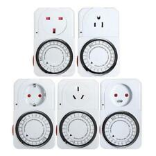 24-Hour Plug In Electrical Programmable Timer Switch Time Clock Socket PICK Plug